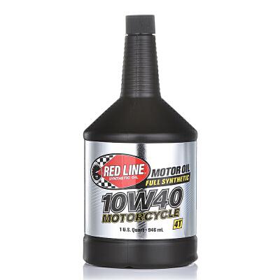 美国原装进口Redline红线全合成摩托车机油4T四冲程润滑油10w40美国原装进口抗磨润滑降噪五类基础油全合成