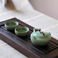 普润(PU RUN) 龙泉青瓷功夫茶具套装 陶瓷茶侧手抓如意茶壶 梅子青