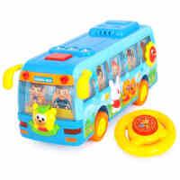 汇乐玩具908欢乐音控校巴 益智音乐玩具车语音巴士儿童玩具汽车