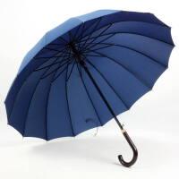 男女通用防风16骨晴雨伞自动伞长柄雨伞商务广告伞可定制