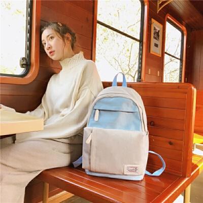 轻度少女书包女大学生ins校园背包小清新百搭丑萌包双肩包女  商品的详细款式、颜色及物流信息,请联系在线客服。