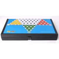 儿童跳棋益智桌面亲子游棋 磁石跳棋可折叠
