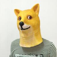 万圣节神烦狗面具恐怖搞怪狗面具狗头道具成人儿童乳胶动物头套