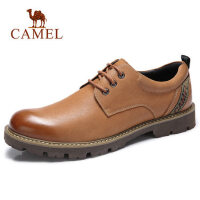 camel骆驼男鞋 秋季新款商务休闲皮鞋复古工装风休闲驾车鞋