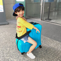 儿童行李箱可爱儿童行李箱可坐骑拉杆箱女宝宝皮箱子万向轮卡通小孩骑行旅行箱男
