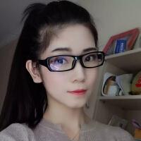 20180822580982018新品防护目镜电脑眼镜女清晰手机蓝光眼镜男复古眼镜轻平光镜 亮黑蓝膜 送一副备注