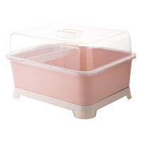 带盖碗碟架放碗架收纳盒沥水架 家用装碗筷收纳箱厨房碗柜置物架