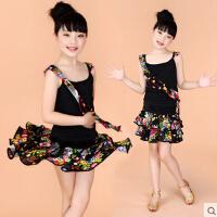 表演服少儿舞蹈裙儿童户外服装演出服女童舞蹈服拉丁舞服装夏季练功服新款