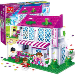 【当当自营】邦宝小颗粒女孩生日礼物 益智拼插积木儿童玩具花之国度6102