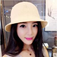 女士圆顶礼帽可折叠渔夫帽盆帽韩国气质显脸小夏季遮阳防晒帽