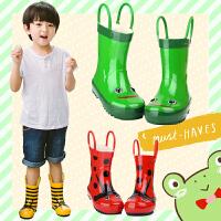 儿童雨鞋男童女童雨靴卡通立体橡胶蜜蜂瓢虫水鞋儿童水靴