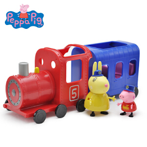 小猪佩奇PeppaPig粉红猪小妹佩佩猪儿童过家家玩具兔小姐火车套装