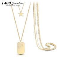 T400秋冬新款毛衣长款项链 玫瑰金色个性外套装饰品倾慕 7431