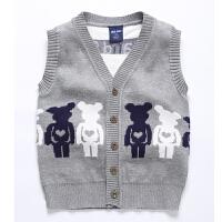 男童针织马甲儿童秋小童纯棉婴儿毛线背心春秋女童童装宝宝开衫