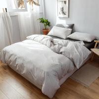 全棉被套四件套1.5m床纯棉被罩床笠单人床单三件套床上用品
