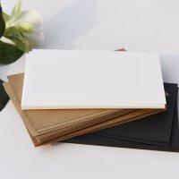 牛皮卡纸DIY自制作空白明信片手绘卡片涂鸦卡片单词双面卡纸