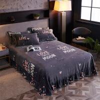 君别毛绒毯子珊瑚绒床单单件绒面法兰绒毛毯双人水晶绒加厚铺床冬季