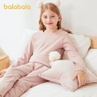 【2件6折:95.4】巴拉巴拉�和��纫绿籽b女秋冬款女童秋衣秋�中大童����柔�睡衣棉