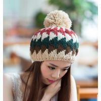 女帽 保暖帽 毛钱帽 MB-26 拼色可爱针织帽毛线帽