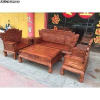 家具沙发木实木雕花兰亭序客厅中式整装沙发组合 组合