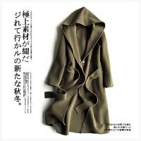新款 95%以上羊毛手工双面大衣女K1124