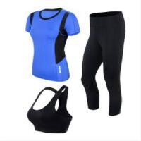 时尚瑜伽服套装新款宽松初学者跑步服装女套装运动速干显瘦