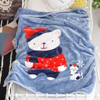 君别商场被子冬天单人儿童毛毯双层加厚毛巾被珊瑚绒毯子婴儿午睡空调盖毯床小 110*140cm(双层加厚 约2.2斤)