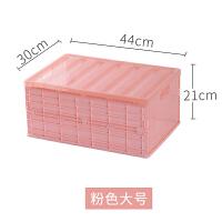 可折叠收纳箱子塑料透明书箱学生宿舍装书本放书教室用储物整理盒 多种规格可选