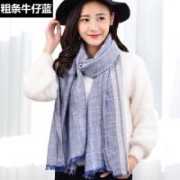 丝巾女秋韩版冬天纯色长款春季披肩两用时尚百搭OL可爱围脖