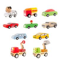 木质小汽车玩具 男童女孩男孩宝宝回力车儿童拼装车子组合
