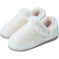 冬季保暖毛�q月子全包跟棉鞋男情�H家居家用室�扰�棉拖鞋厚底防滑