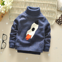 男童毛衣装儿童高领针织衫外套加绒加厚宝宝打底衫小童保暖线衣