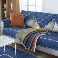 四季布艺沙发巾纯色简约沙发垫套装