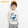 【2.26超品 5折价:39.5】巴拉巴拉宝宝T恤儿童长袖男童春装2020新款童装小恐龙洋气上衣潮