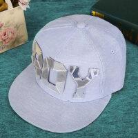帽子男女款时尚运动平沿棒球帽BOY字母装饰鸭舌帽