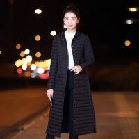 反季2018韩版轻薄中长款羽绒服女过膝修身显瘦外套处理潮