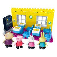 小猪佩奇玩具邦宝拼插积木佩琪猪儿童礼物女孩过家家益智3-6周岁