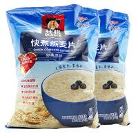 桂格(QUAKER) 快煮燕麦片 经典原味 (1000g×2袋) 袋装 粗粮谷物早餐