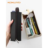 大集合KOKUYO国誉笔袋对开式CR-2女大学生简约大容量笔筒式文具袋