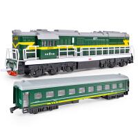 儿童火车大巴车汽车玩具模型仿真回力带灯光音乐轨道男孩