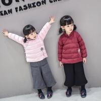 女童装2017新款韩版儿童女宝宝秋款加厚羽绒棉衣唐装棉袄