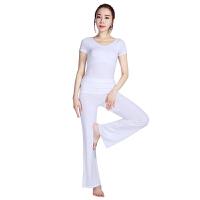 [当当自营]皮尔瑜伽(pieryoga)2018新款瑜伽服套装女 跑步运动健身服修身显瘦两件套 81326白色短袖+4