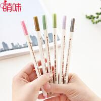 萌味 软笔 10色油漆笔斯塔金属珠光彩色记号笔毛笔 装饰涂鸦相册笔