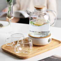玻璃冷水壶耐热高温北欧创意泡茶壶北欧风家用欧式储凉开水杯套装