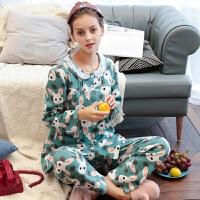 名流妈妈月子服秋季空气层纯棉孕妇睡衣产后喂奶哺乳家居服套装