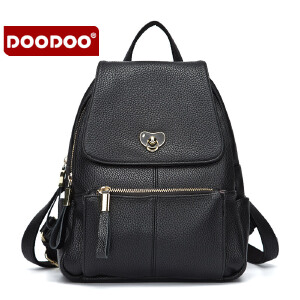 【支持礼品卡】DOODOO 2017新款夏季休闲双肩包韩版潮流学院风书包时尚多隔层大容量女士背包 D6029