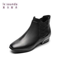 莱尔斯丹 专柜秋冬低跟套筒女靴切尔西女短靴 8T29903