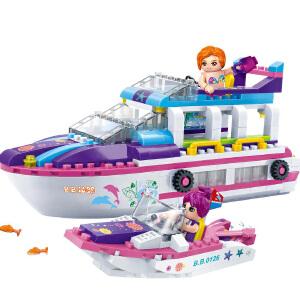 【当当自营】邦宝媚力沙滩之游艇码头298粒益智小颗粒拼装积木玩具5岁以上男孩女孩儿童礼物6140