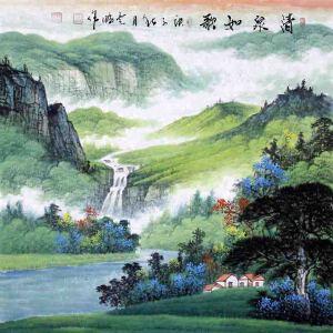 中国青年美术家协会常务理事,国家一级美术师,中国山水画院专业画家,山东省美协会员高云鹏(清泉如歌)