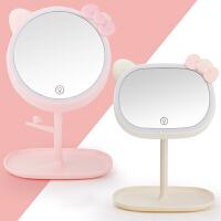 萌味 化妆镜带灯 台式可发光充电大号LED美妆镜生日礼物送女友带灯镜子送老婆闺蜜情人节台灯